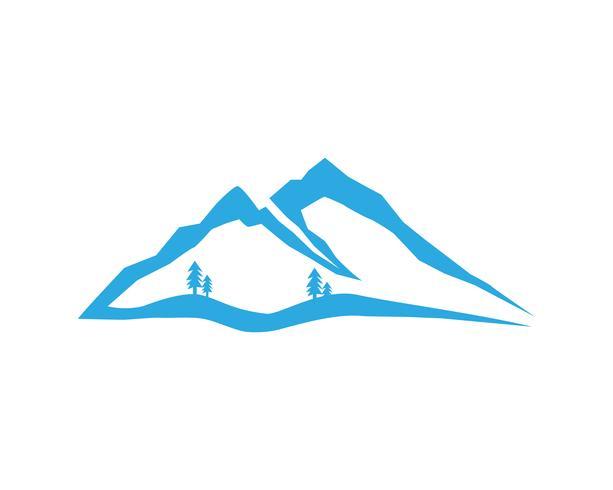 Montagne et eau Logo Business Template Vector