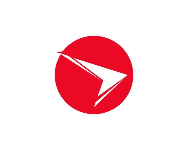 Concepto de vector de símbolos y logo de finanzas rojo más rápido