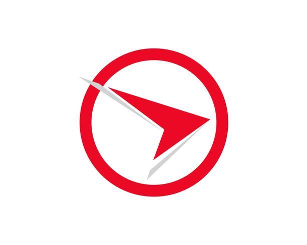 Snabbare röd ekonomi logotyp och symboler vektor koncept