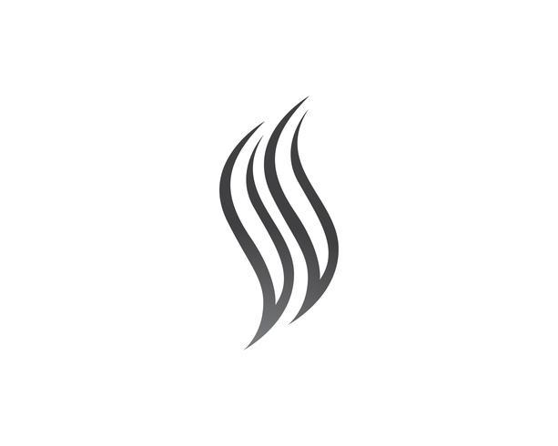 Icono de vector de pelo y plantilla de logotipo