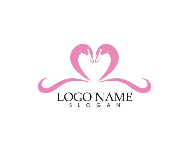 Swan logo och symboler ikoner vektor mall