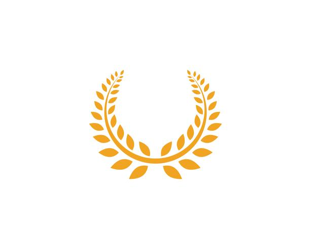 jordbruk ris mat måltid logotyp och symboler mall ikoner vektor