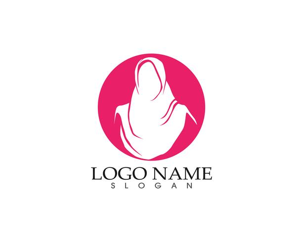 hijab woman silhouette logo and symbols