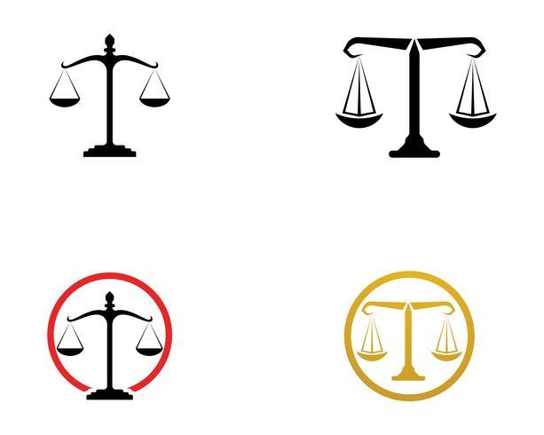 Rättvisa advokatlogo och symboler mallikoner app