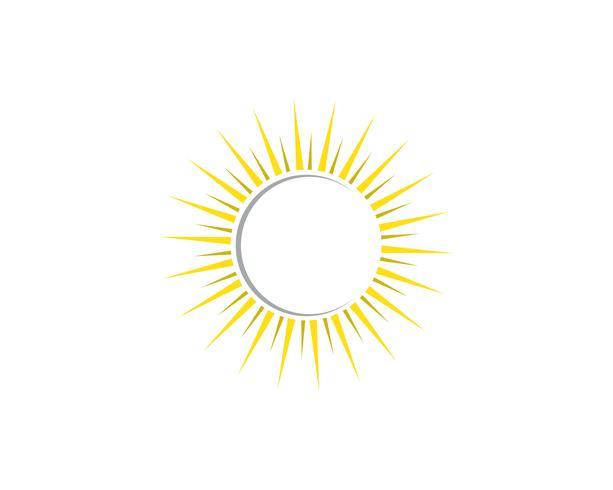 Plantilla de icono de vector de logotipo de ilustración de sol