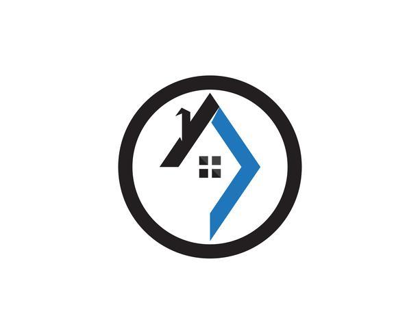 Plantilla de iconos de logo de edificios de bienes raíces y hogar vector