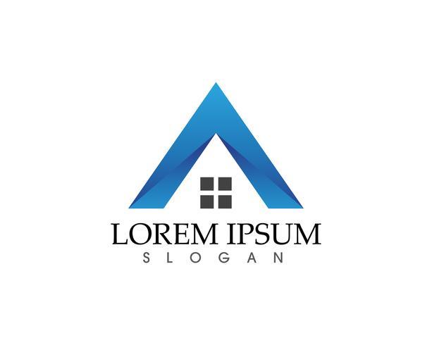 vettore delle icone di simboli e di logo delle costruzioni domestiche