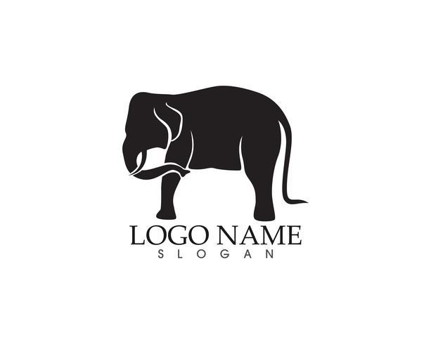 Elefant Vektor-Logo und Symbole Vorlage App