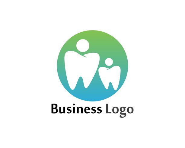 Logotipo dental y plantilla de vector de símbolos
