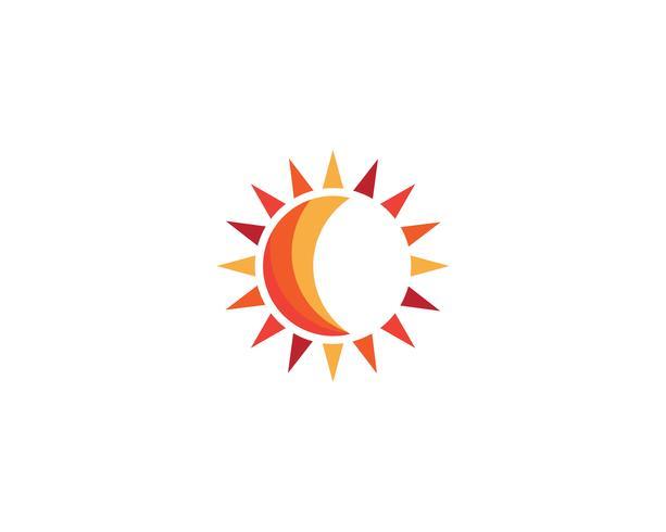 modelli di vettore logo sole