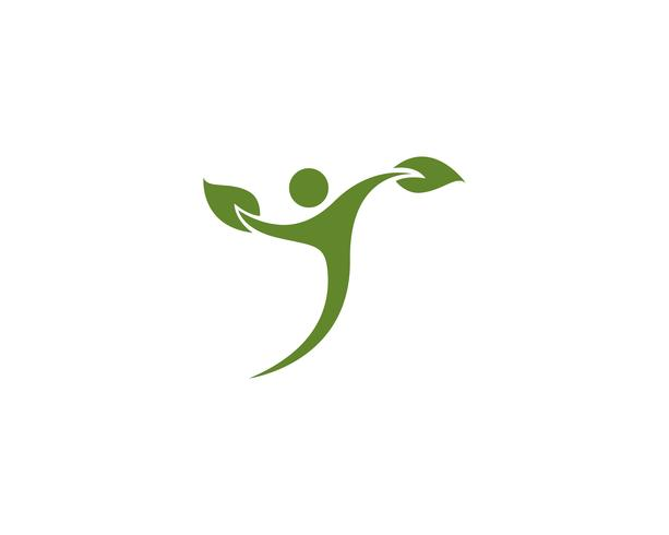 people leaf green nature health logo and symbols.. vector