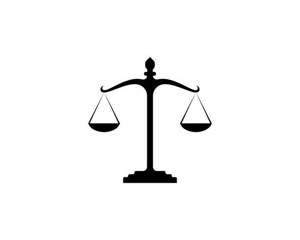 Aplicación de iconos de logotipo y símbolos de abogado de justicia vector