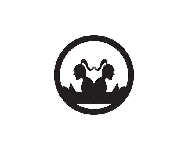 Läsa Boklogotyp och symboler Silhouette Illustration svart.