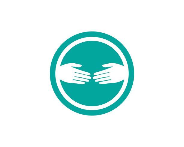 Aplicación de iconos de logos y símbolos de mano.
