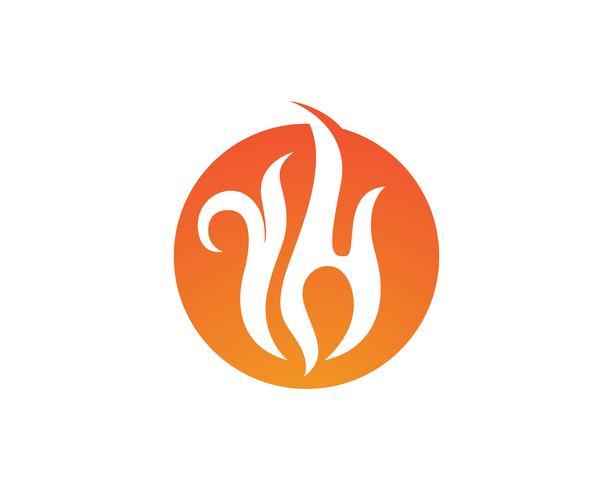 Modèle de logo icône vectoriel incendie