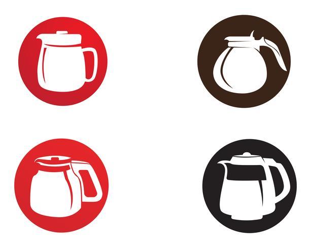 Tasse à café Logo Template vector icon design