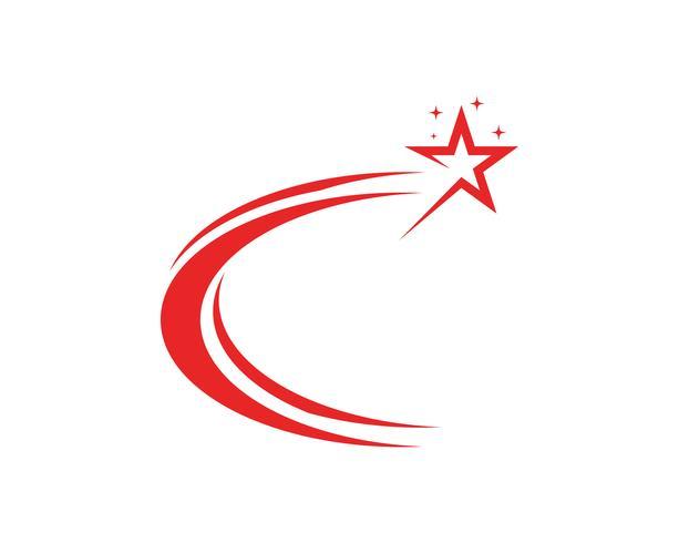 Estrella logo vector e icono de plantilla