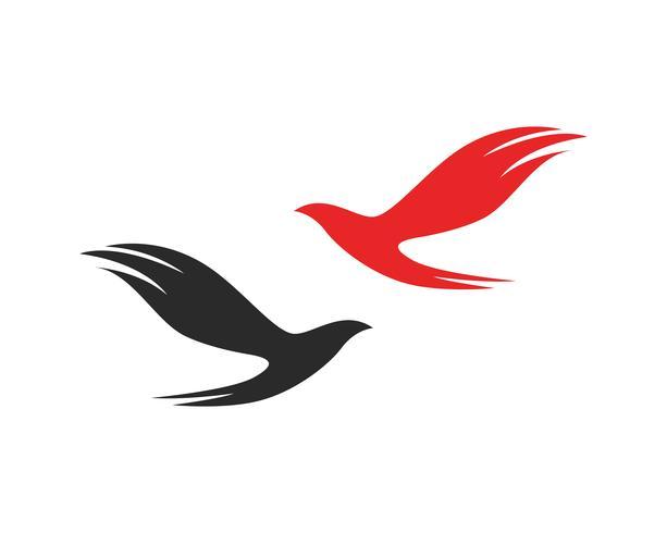 fågel flyga underteckna abstrakt mall ikoner vektor