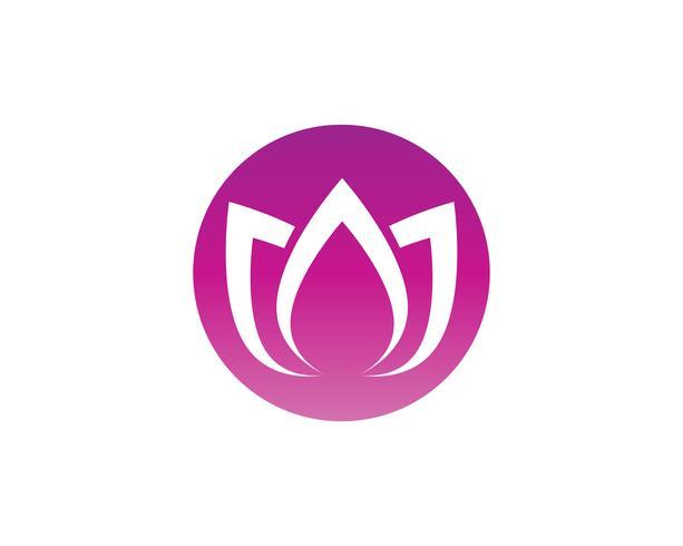lotus flower nature logo et symbole template vecteur