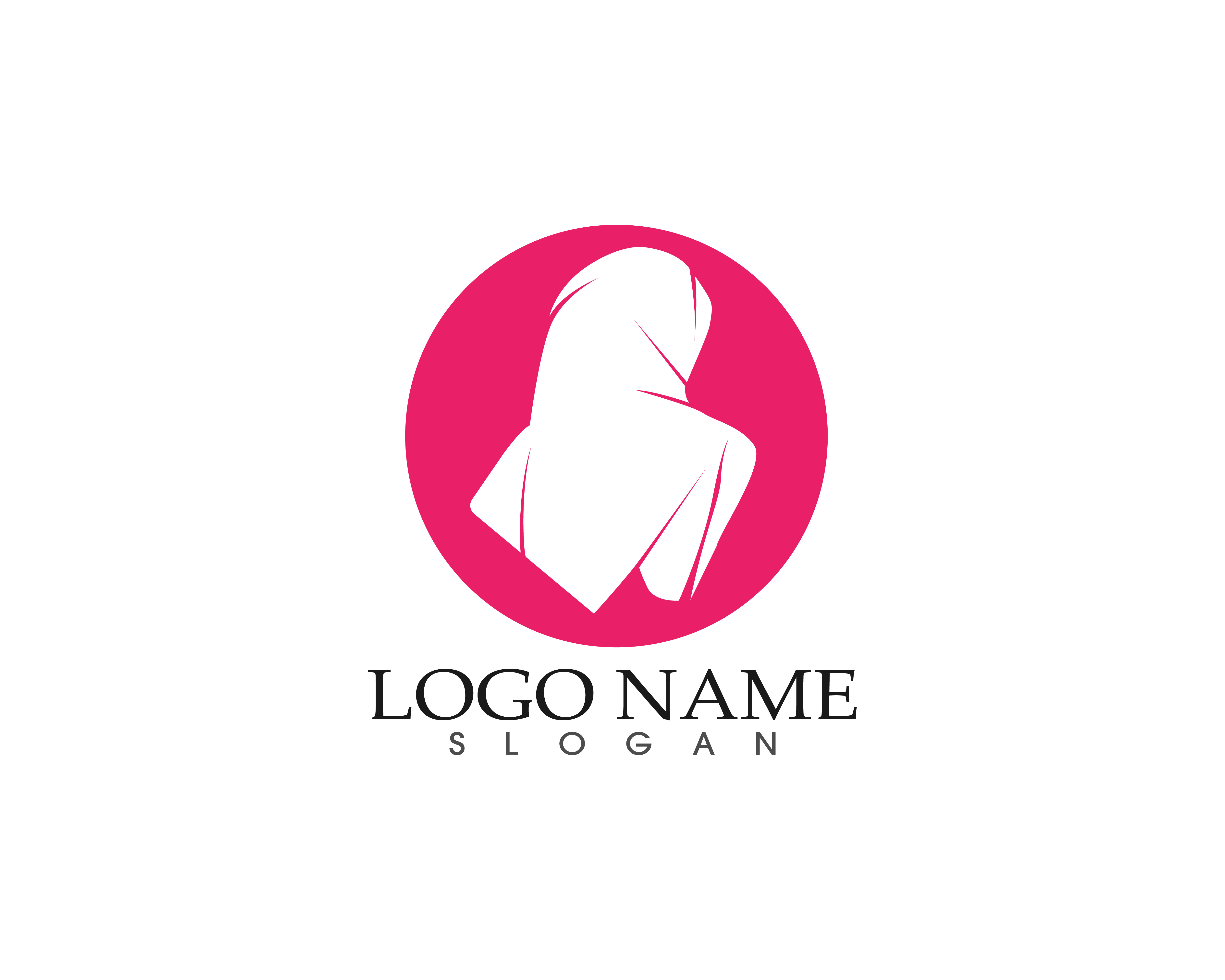 hijab woman silhouette logo and symbols Vector Download