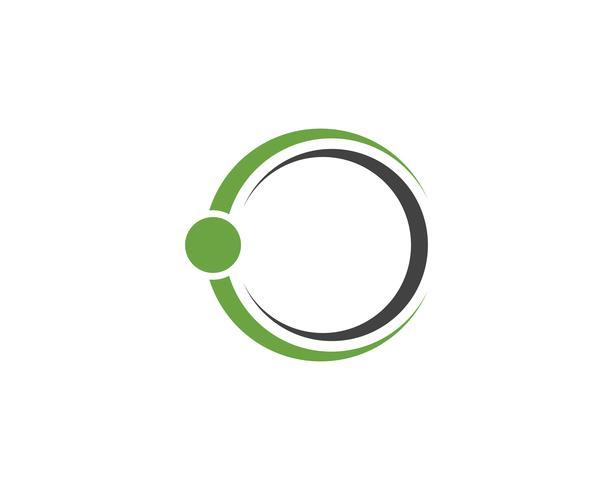 Iconos de plantilla de logotipo y símbolos de anillo de círculo