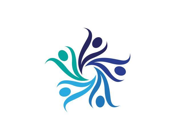 Icone di logo e simboli di persone di comunità