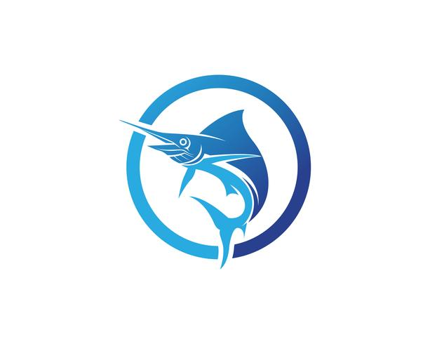 Marlin hoppa fisk logotyp och symbolik symbol