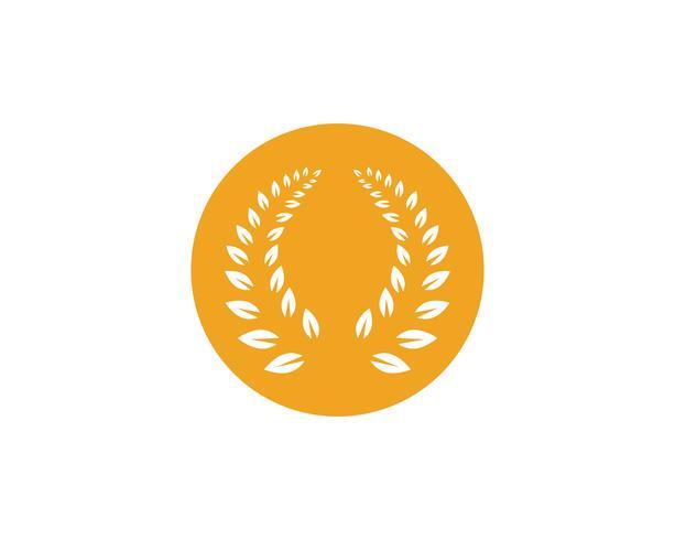 Agricultura arroz comida comida logotipo y símbolos plantilla iconos