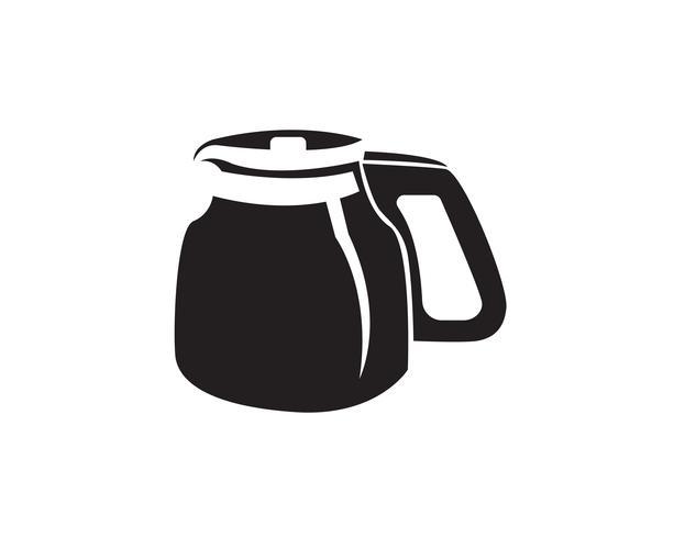 Copo de café Logo Template vector ícone do design