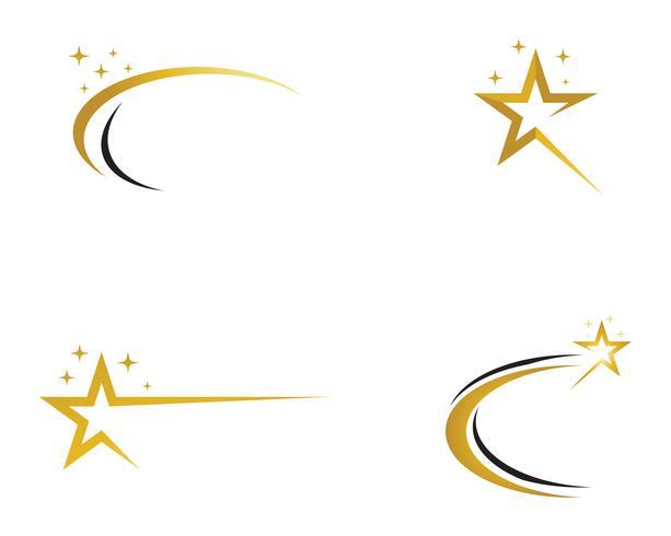 Ícone de vetor e modelo de logotipo estrela
