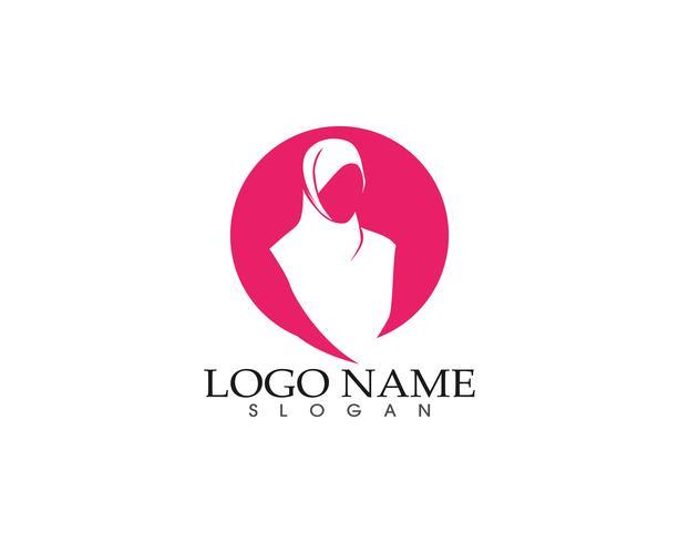 hijab vrouw silhouet logo en symbolen