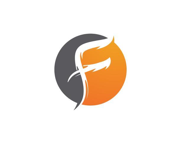 Iconos de vector de plantilla de logotipo y símbolos de letra F,