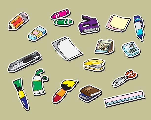 kantoorbenodigdheden briefpapier sticker pictogrammen