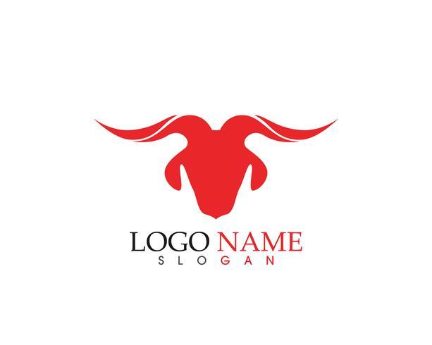 Aplicación de iconos de logotipo y símbolos de cuerno de cabra