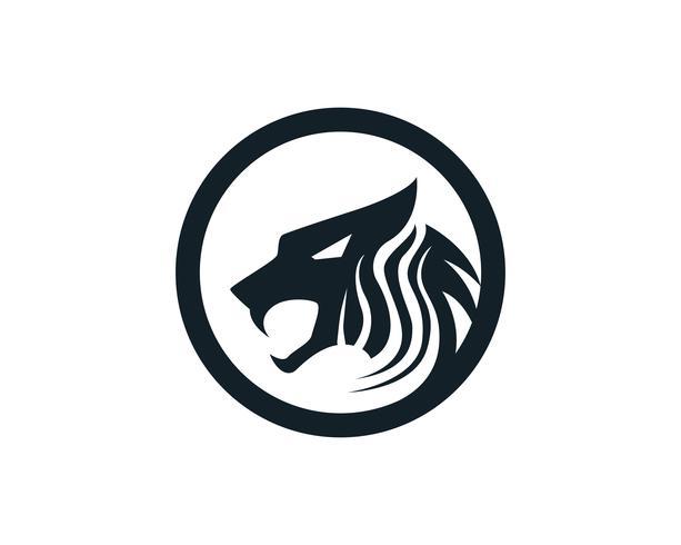 Mascota de logotipo de cabeza de tigre sobre fondo blanco