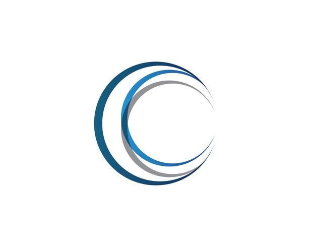 Icônes de modèle cercle logo et symboles de la bague