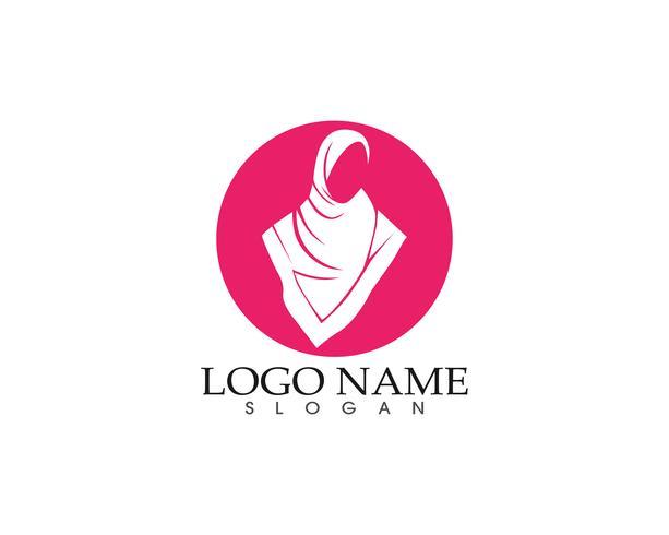 Hijab Frau Silhouette Logo und Symbole