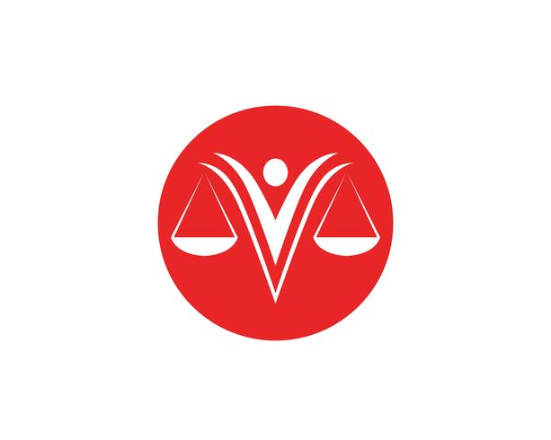 Icone del modello di logo e simboli dell'avvocato della giustizia app