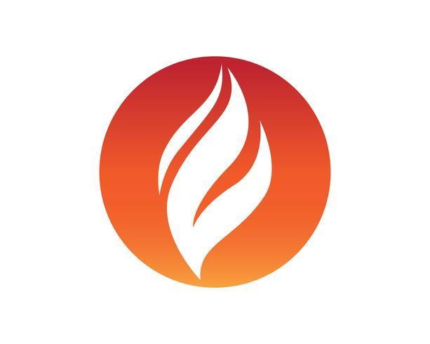 Plantilla de los iconos de logotipo y símbolos de la naturaleza llama de fuego vector