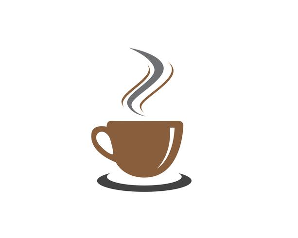 Copo de café Logo Template vector ícone do design