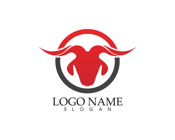 goat horn logo and symbols template icons app