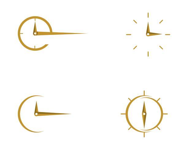 ícone de vetor de modelo de logotipo de relógio de negócios