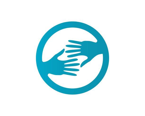 Hand help logo and symbols app de ícones de modelo