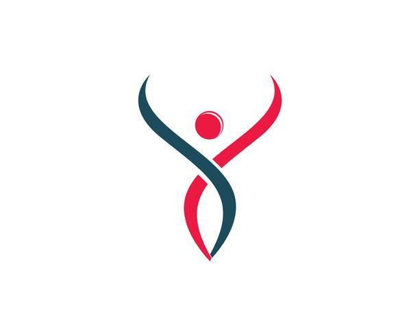 Iconos de plantilla de logotipo y símbolos de personas de salud