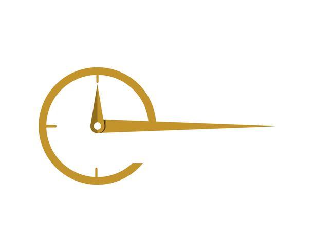 icône du vecteur modèle entreprise logo horloge