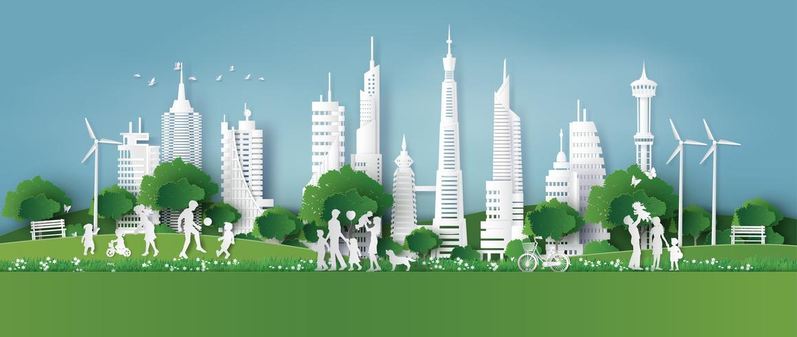 eco-friendly, salva la terra e la giornata mondiale dell'ambiente vettore