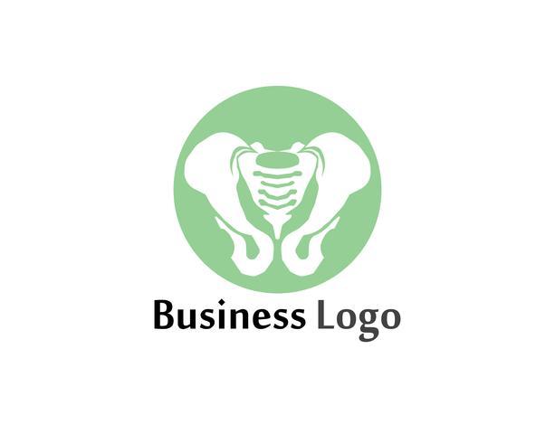 Diagnóstico da coluna símbolo design de ilustração vetorial de modelo de logotipo