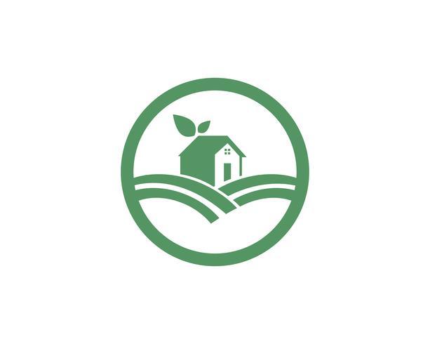 Logo di casa natura verde foglia