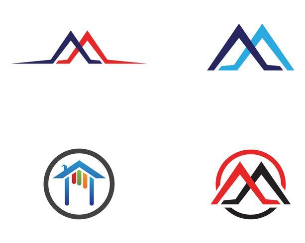 Plantilla de los iconos de inicio edificios logo y símbolos vector