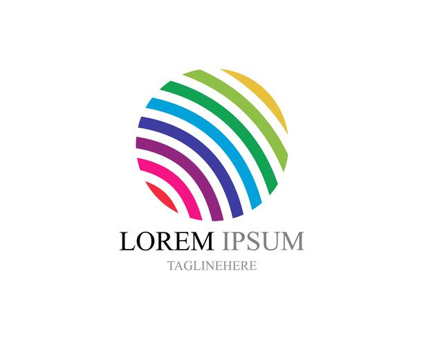 Ícones de logotipo do mundo fio colorido